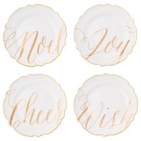 Gold Script Appetizer Plates