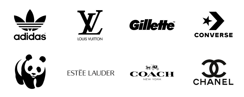 Black & White logos