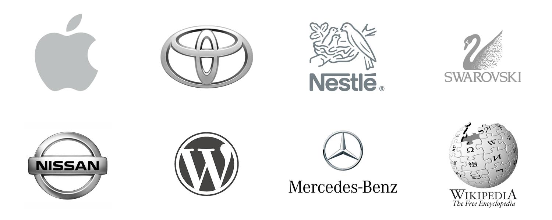Grey logos