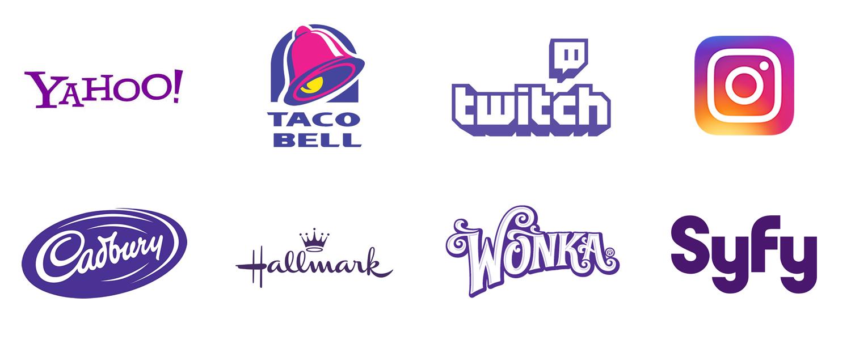 Purple logos