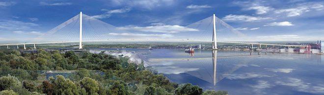 Gordie Howe Bridge Span Rendering